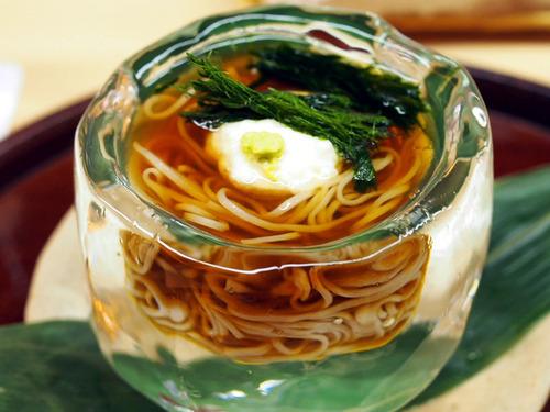 山芋と青海苔蕎麦