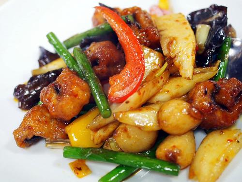 天然鰻と野菜の豆鼓炒め