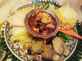 豚肉の角煮とお野菜