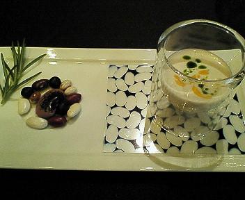 白隠元豆のブルーテ イベリコチョリソーとフォアグラ