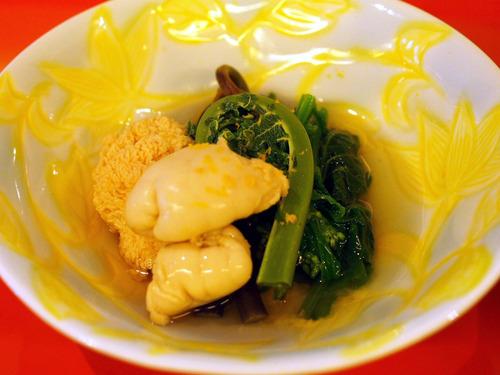 鯛の白子と鯛子と山菜