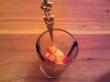 シャンパンとフルーツのソルべ