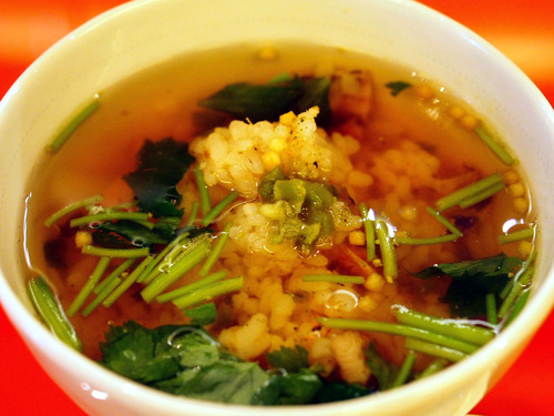 煮穴子と桜海老の炊き込みご飯茶漬け