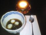 白玉小豆とレンズ豆とじゅんさい