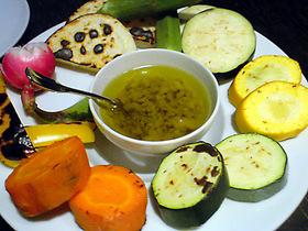 いろいろ野菜のアンチョビoil
