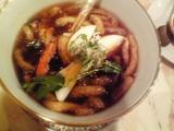 魚の浮き袋と蟹スープ