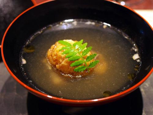 短角牛すね肉と揚玉蜀黍豆腐