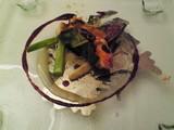 オマール海老のイベリコハム巻き イチジクのソース