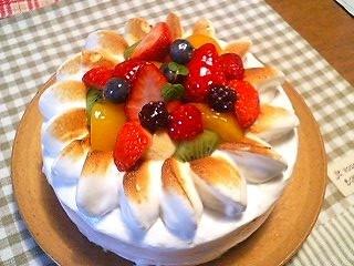 雪の花のケーキ