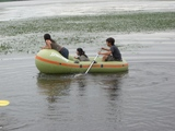 07年8月キャンプ�林さんボート