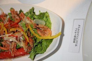 釧路産サラダと甘海老フリットのサラダ