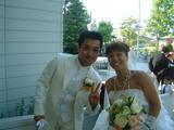 小野夫妻結婚式・二人の2ショット