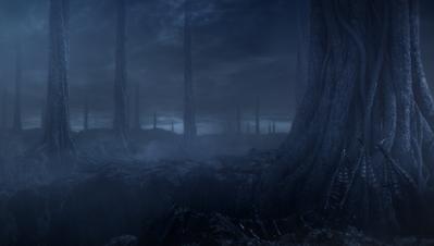 灰色の岩と大樹と、朽ちぬ古竜ばかりがあった