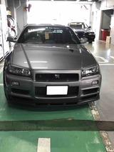 2020.03.12 BNR34の車検 日産大阪福島店にて