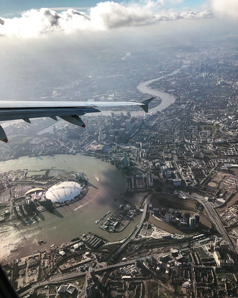 city of london from the sky