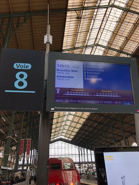 gare de nord platform 8