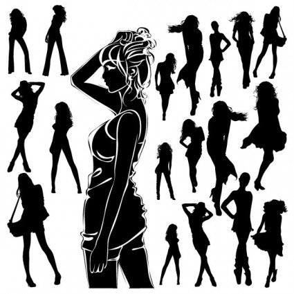 beautiful-black-and-white-silhouette-vector-91986