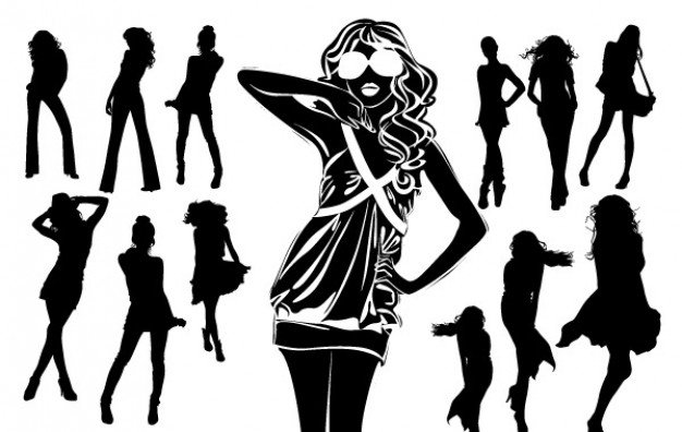silhouettes-of-beautiful-women-in-vector-format_73973