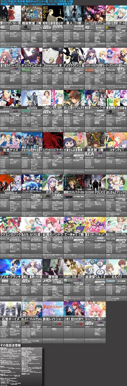 2016年冬アニメ一覧表