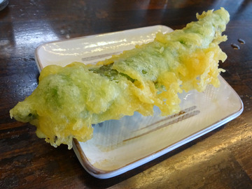 おにやんま@青物横丁 (2)冷やかけ波300甘辛ピーマンの天ぷら100