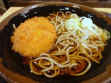 東西そば@葛西(8)天かす丼セット500コロッケ150