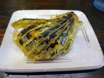 おにやんま@青物横丁 (6)冷ぶっかけ並300なすの天ぷら100