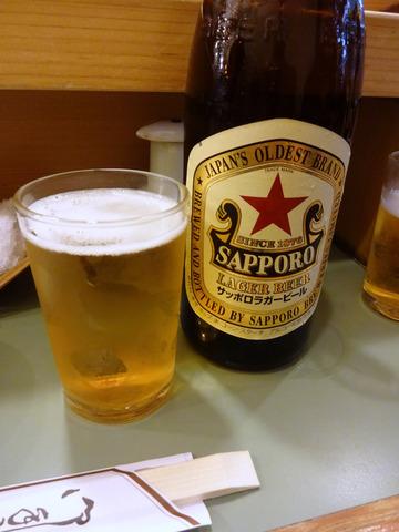 大和寿司@築地 (4)おまかせ3780びんビール700