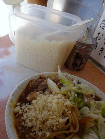 南天@椎名町 (8)肉カレーそば480
