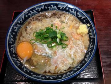麦の城@大森 (3)天ぷらそば410玉子60