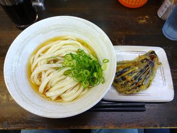 おにやんま@青物横丁 (7)冷ぶっかけ並300なすの天ぷら100