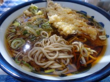 山田製麺所@瑞江(4)そば320いわし140春菊天100テイクアウト揚玉50