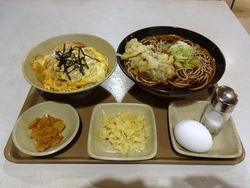 太田@西馬込 (10)ミニかつ丼セット750なす天100ゆで玉子60