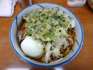うさぎや@新橋 (4)冷かけ320春菊110ゆで卵70