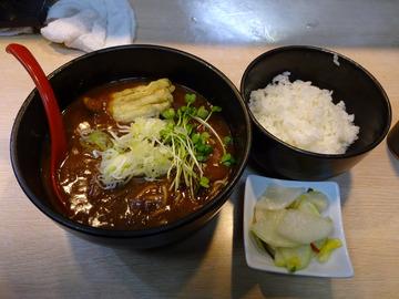 白樺@武蔵小金井 (6)カレー南蛮そば470白飯160