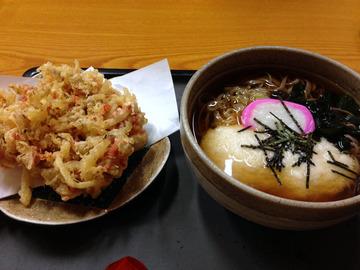 食事楽@沼田 (6)とろろそば650桜エビのかき揚げ300