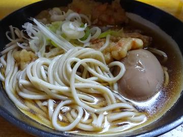 田舎@目黒 (5)天ぷらそば370味玉子50