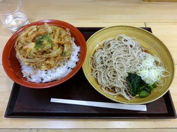 いわもとQ@池袋(5)かき揚げ丼セットひや540
