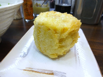 おにやんま@青物横丁 (3)冷やかけ300トウモロコシの天ぷら120