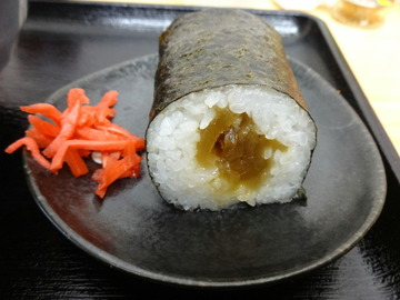 稲浪@飯田橋(7)ほうれん草そば330かんぴょう巻60