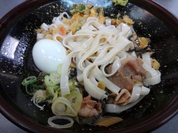 あさま@平和島(4)冷やし肉なんきしめん440ゆで卵60たぬき30