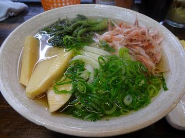 おにやんま@青物横丁 (4)春の彩三色うどん600鰆の天ぷら250