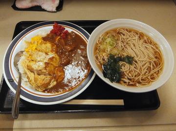 富士そば大森店@大森(3)カレーかつ丼550かけそば280