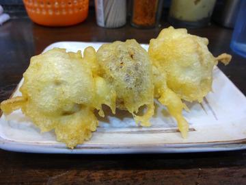 おにやんま@青物横丁 (2)温並300マッシュルームの天ぷら150