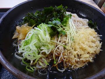 ゆで太郎芝浦4丁目店@三田 (8)夏野菜とゲソのかき揚げそば520