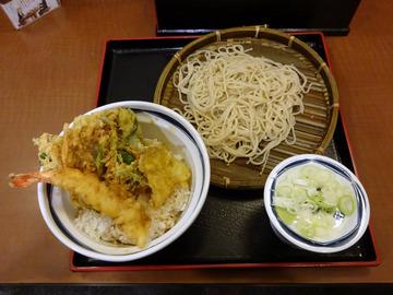 信州屋@渋谷 (5)天丼セットもりそば600