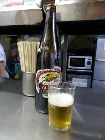 信濃路@大森(2)瓶ビール500たぬきそば240