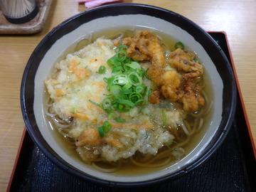 麦の城@大森(4)天ぷらそば390げそ揚げ70
