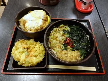 ゆで太郎大井町店@大井町 (3)かつ丼セット650かき揚100