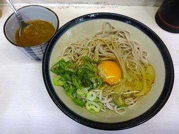 三松@新橋 (8)たぬきそば350玉子60かま玉そば350ちょいカレー100