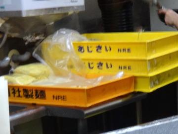 道中そば@大森(3)わさび菜紅生姜天そば400